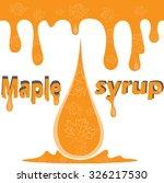 vector illustration of maple... | Shutterstock .eps vector #326217530