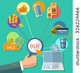 e commerce concept internet buy ... | Shutterstock .eps vector #326224466