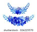 Blue Flower Arrangement ...
