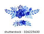 Blue Floral Arrangement ...