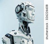 Robot à tête humaine