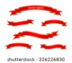 set of red beautiful ribbon... | Shutterstock .eps vector #326226830