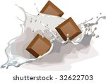 milk and chocolate with splash   Shutterstock .eps vector #32622703