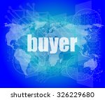 buyer word on digital touch... | Shutterstock .eps vector #326229680