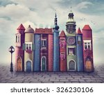 magic city with old books | Shutterstock . vector #326230106