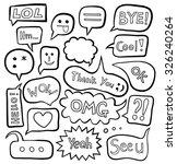 set of speech bubbles | Shutterstock .eps vector #326240264