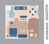 vector flat projection... | Shutterstock .eps vector #326243744