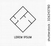 floor plan  interior of the... | Shutterstock .eps vector #326243780