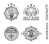 Drum School Or Drum Lessons Set ...