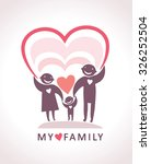 my family. love of parents to... | Shutterstock .eps vector #326252504