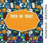 halloween funny background.... | Shutterstock .eps vector #326252966