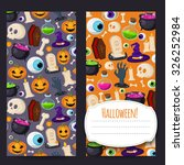 happy halloween vector banners... | Shutterstock .eps vector #326252984