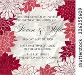wedding invitation card with... | Shutterstock .eps vector #326255609