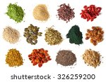 Various Superfoods Isolated On...