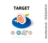 target icon  vector symbol in...