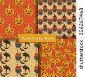 halloween vector seamless... | Shutterstock .eps vector #326267468