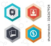hexagon buttons. hipster retro... | Shutterstock .eps vector #326267924