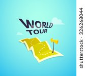 world tour concept logo  long... | Shutterstock .eps vector #326268044