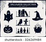 hand drawn textured halloween... | Shutterstock .eps vector #326269484