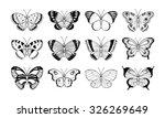 Stock vector vector butterflies clip art collection hand drawn design elements for greeting cards posters 326269649
