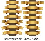 collection of fourteen gold... | Shutterstock .eps vector #326275553
