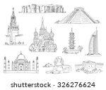 attractions of the world.... | Shutterstock .eps vector #326276624