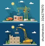 construction site  building.... | Shutterstock .eps vector #326279870