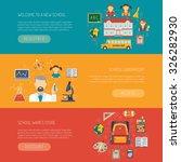 education banner horizontal set ... | Shutterstock .eps vector #326282930