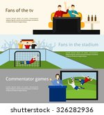 soccer world cup tv spectators... | Shutterstock .eps vector #326282936