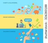 giving hands charities online... | Shutterstock .eps vector #326283188