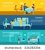 catering restaurant and canteen ... | Shutterstock .eps vector #326283206