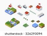isometric landscape of...   Shutterstock . vector #326293094