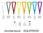 set of lanyards with different... | Shutterstock .eps vector #326295050