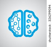 flat blue brain icon  | Shutterstock .eps vector #326299094