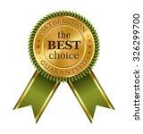 golden green black premium... | Shutterstock .eps vector #326299700