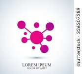 modern logotype icon dna and... | Shutterstock .eps vector #326307389