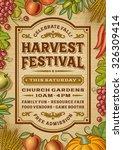 vintage harvest festival poster.... | Shutterstock .eps vector #326309414