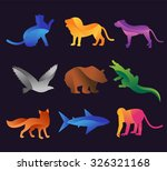 Animal Zoo Vector Icons Set....