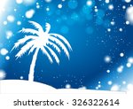 palm silhouette with anomaly... | Shutterstock .eps vector #326322614