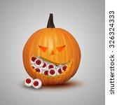 halloween pumpkin isolated on... | Shutterstock .eps vector #326324333