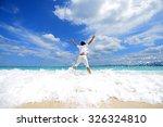 portrait of happy man on a... | Shutterstock . vector #326324810