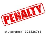 penalty red stamp text on white | Shutterstock .eps vector #326326766