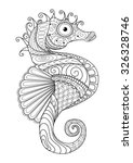 hand drawn sea horse zentangle... | Shutterstock .eps vector #326328746