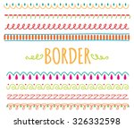 set of colorful hand drawn... | Shutterstock .eps vector #326332598
