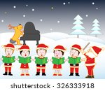 christmas concert in the snow... | Shutterstock .eps vector #326333918