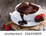 Brownies In Stacked Coffee Cups ...