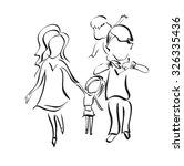 family  sketch  silhouette ...   Shutterstock .eps vector #326335436