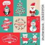 vector set of christmas symbols ... | Shutterstock .eps vector #326335934