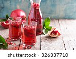 pomegranate drink with... | Shutterstock . vector #326337710