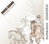 illustration of horse riding.... | Shutterstock .eps vector #326342816